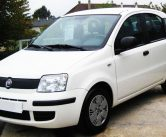 White-Fiat-Panda-for-rent-in-kefalonia-front-3